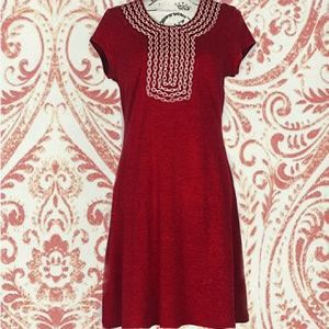 Adorable red boho Anthropologie dress